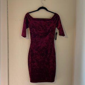 Lulus off the shoulder velvet dress